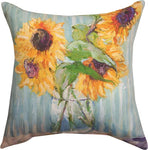 Sunflowers in Vase Pillow