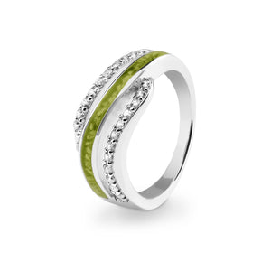 EverWith™ Ladies Oceans Memorial Ashes Ring with Swarovski Crystals