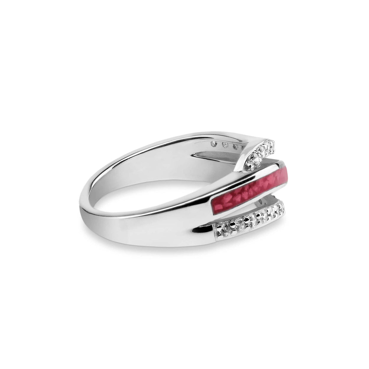 Load image into Gallery viewer, EverWith™ Ladies Oceans Memorial Ashes Ring with Swarovski Crystals