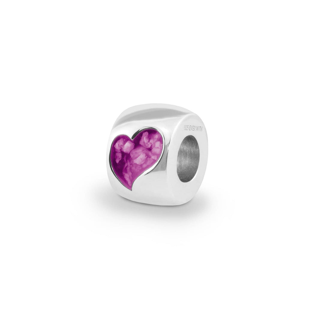 EverWith™ Cherish Memorial Ashes Charm Bead with Swarovski Crystals