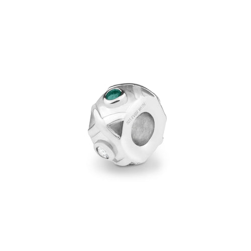 EverWith™ Peace Memorial Ashes Charm Bead with Swarovski Crystals