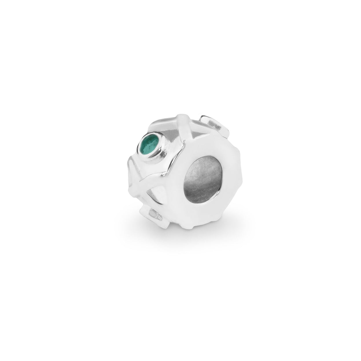 Load image into Gallery viewer, EverWith™ Peace Memorial Ashes Charm Bead with Swarovski Crystals