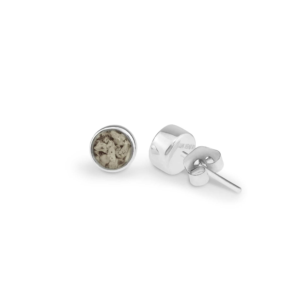Load image into Gallery viewer, EverWith Ladies Classic Round Memorial Ashes Earrings