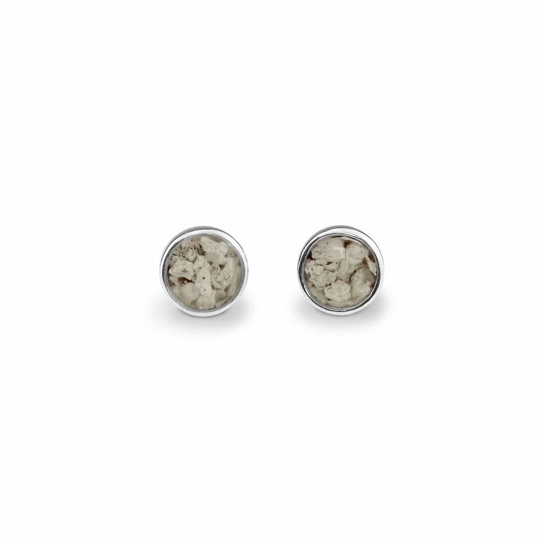 EverWith Ladies Classic Round Memorial Ashes Earrings