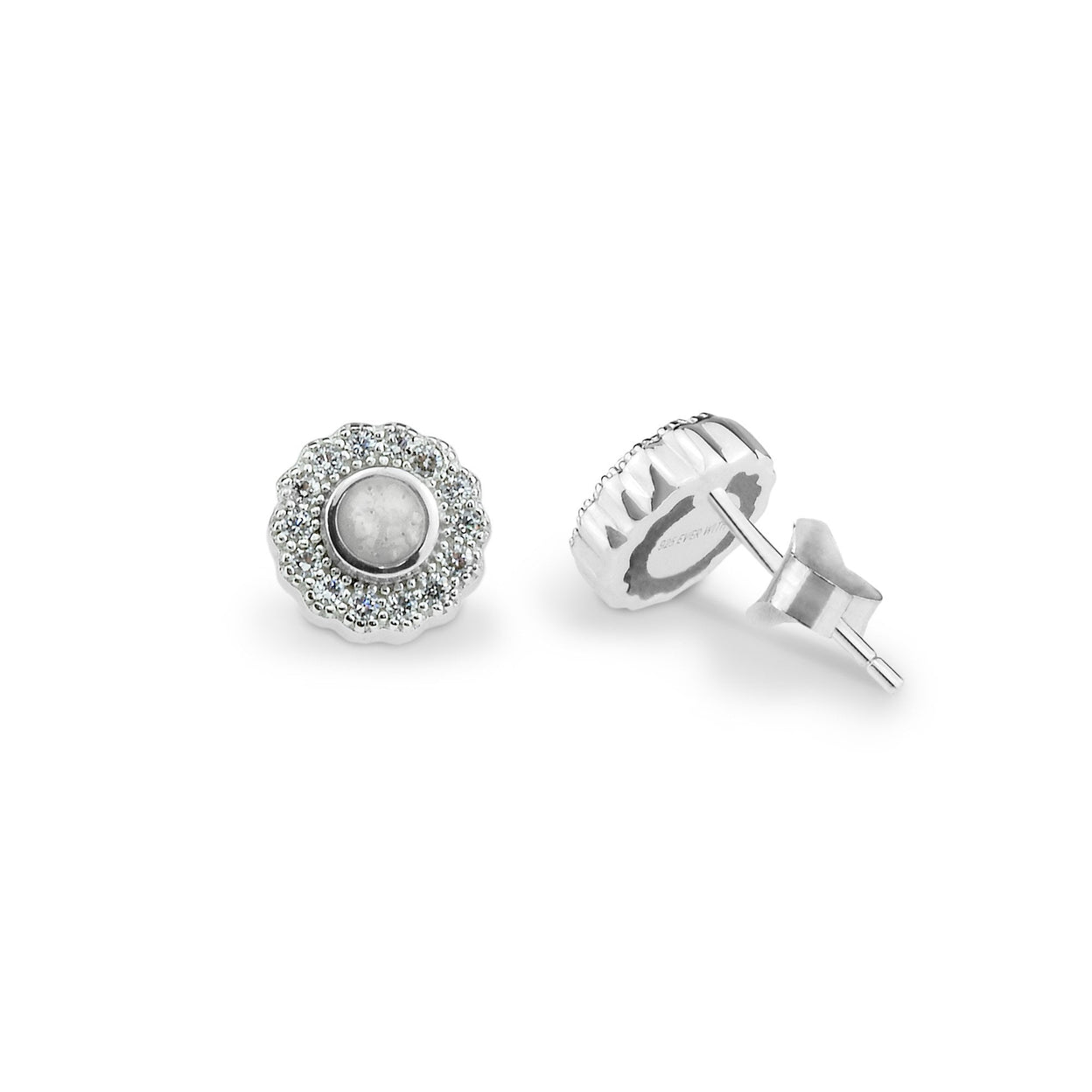 Load image into Gallery viewer, EverWith™ Ladies Petals Memorial Ashes Earrings with Swarovski Crystals