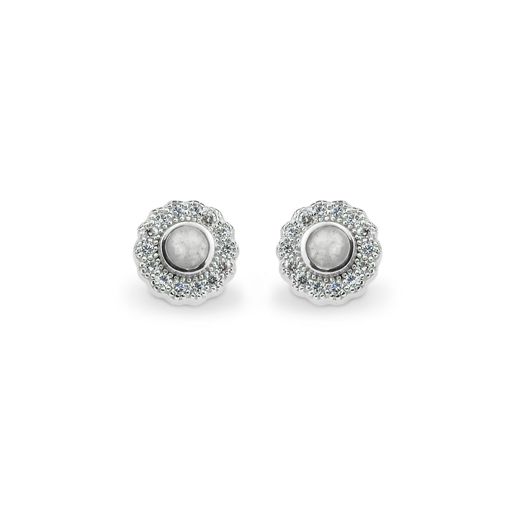 EverWith™ Ladies Petals Memorial Ashes Earrings with Swarovski Crystals