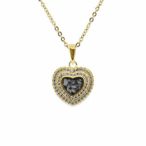 EverWith Ladies Cherish Memorial Ashes Pendant with Fine Crystals