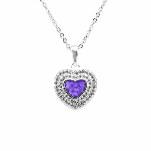EverWith™ Ladies Cherish Memorial Ashes Pendant with Swarovski Crystals