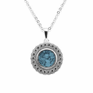EverWith™ Ladies Petals Memorial Ashes Pendant with Swarovski Crystals