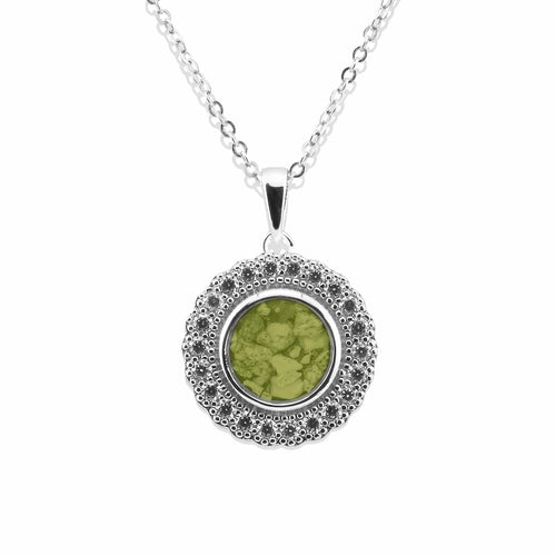 EverWith Ladies Petals Memorial Ashes Pendant with Fine Crystals