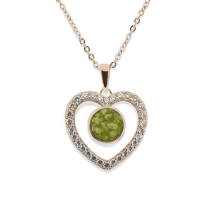 EverWith™ Ladies Forever Memorial Ashes Pendant with Swarovski Crystals