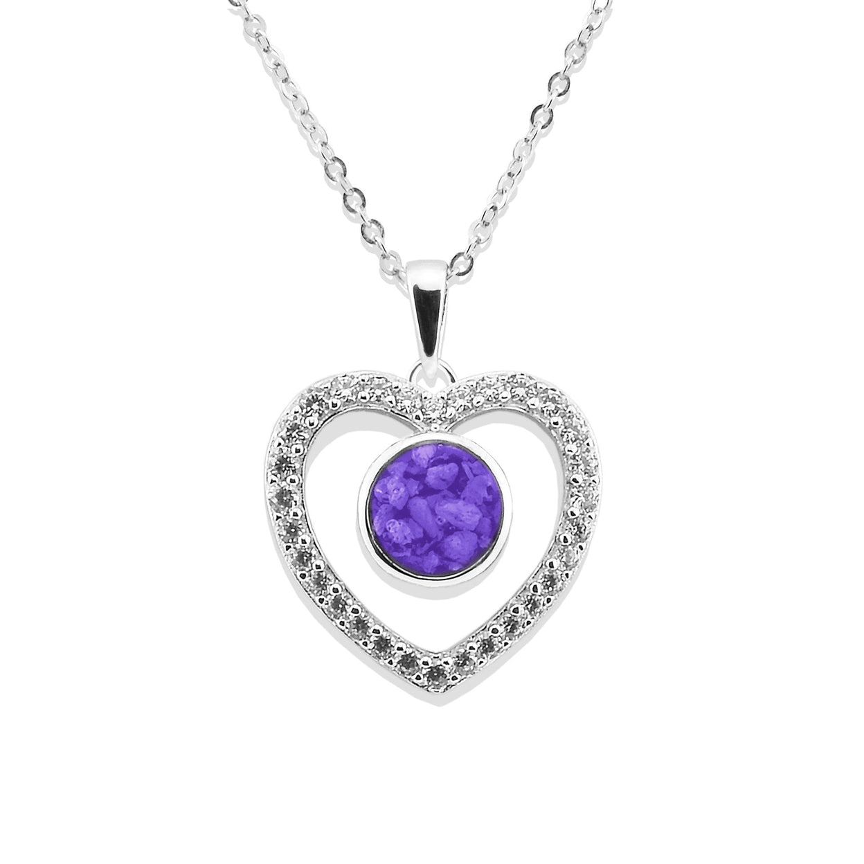 Load image into Gallery viewer, EverWith™ Ladies Forever Memorial Ashes Pendant with Swarovski Crystals