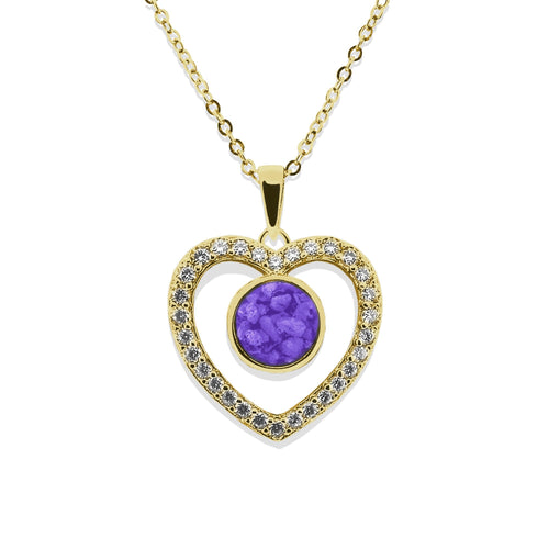 EverWith Ladies Forever Memorial Ashes Pendant with Fine Crystals