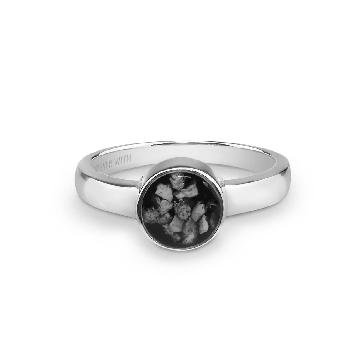 Load image into Gallery viewer, EverWith™ Ladies Classic Round Memorial Ashes Ring