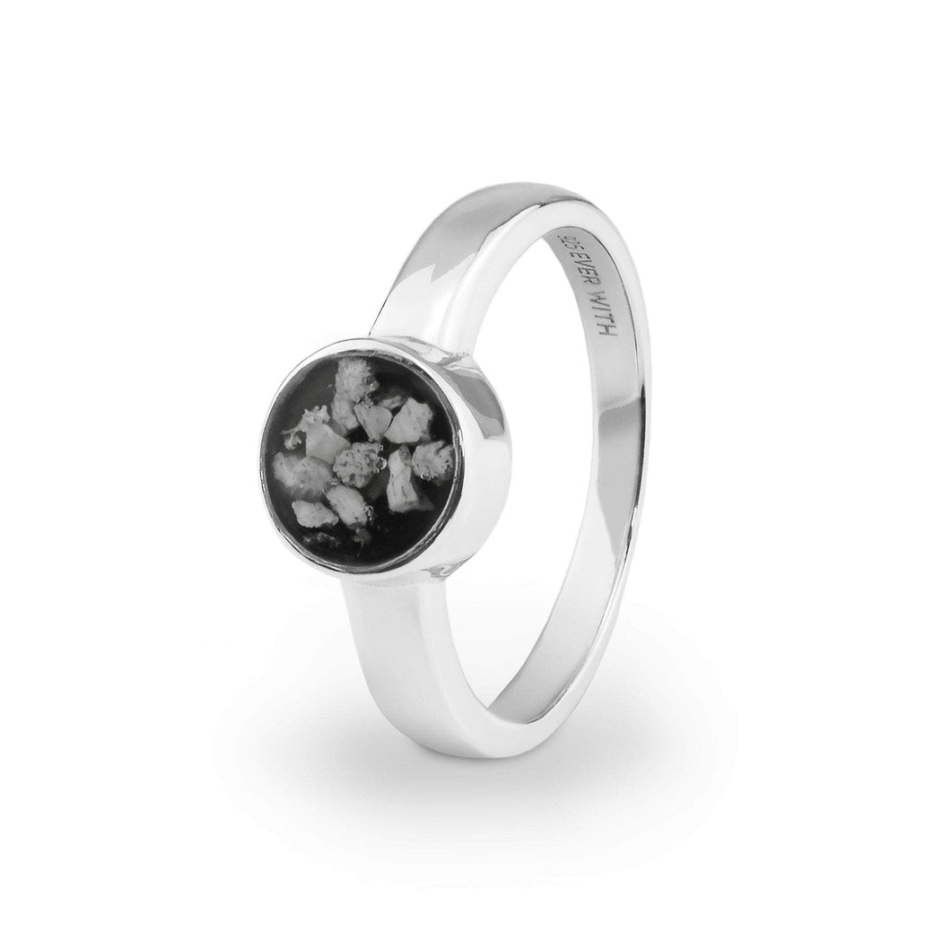 EverWith™ Ladies Classic Round Memorial Ashes Ring