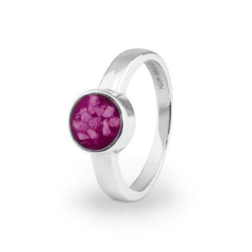 EverWith Ladies Classic Round Memorial Ashes Ring