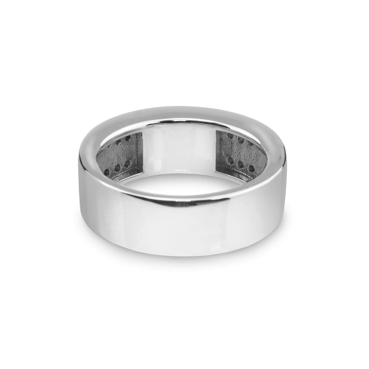 Load image into Gallery viewer, EverWith™ Gents Oblong Memorial Ashes Ring with Swarovski Crystals