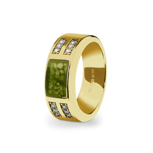 EverWith™ Gents Oblong Memorial Ashes Ring with Swarovski Crystals