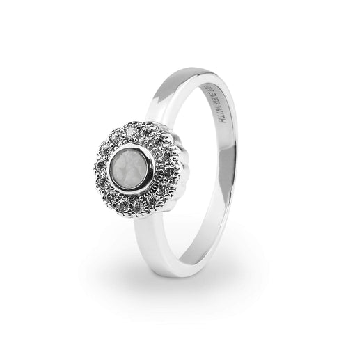 EverWith™ Ladies Petals Memorial Ashes Ring with Swarovski Crystals