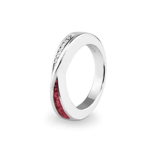 EverWith™ Ladies Harmony Memorial Ashes Ring with Swarovski Crystals