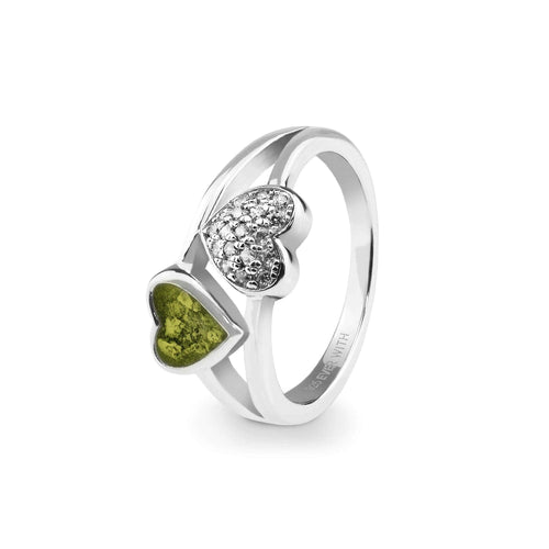 EverWith™ Ladies Cherish Memorial Ashes Ring with Swarovski Crystals