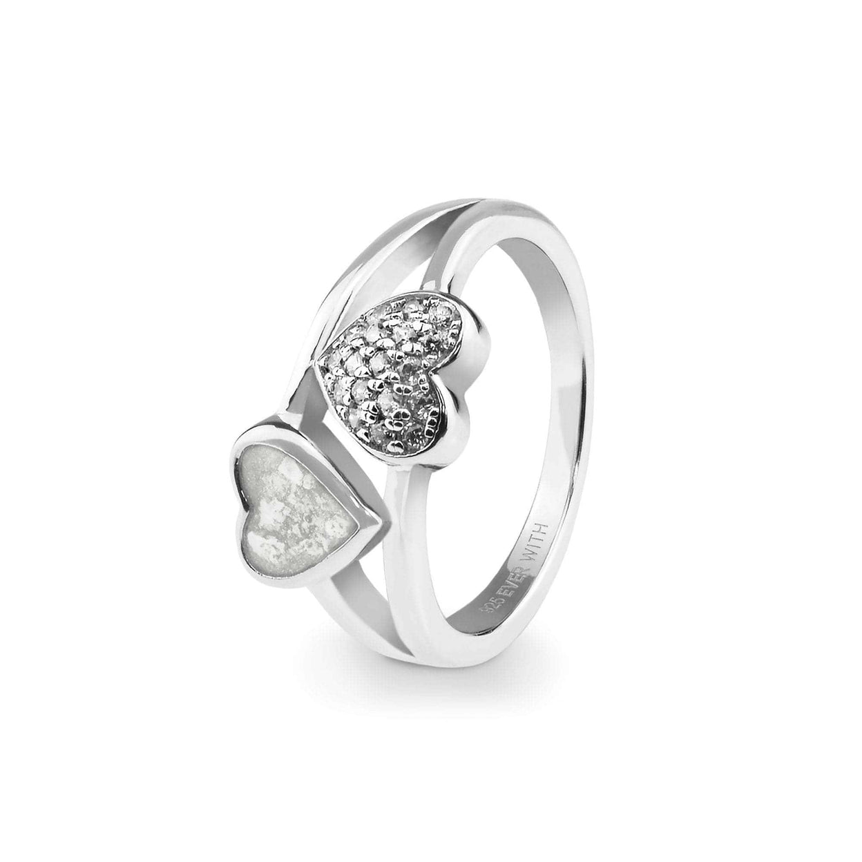 Load image into Gallery viewer, EverWith™ Ladies Cherish Memorial Ashes Ring with Swarovski Crystals