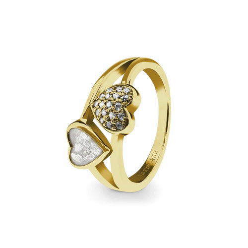 EverWith Ladies Cherish Memorial Ashes Ring with Fine Crystals