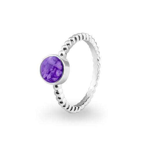 EverWith™ Ladies Round Bubble Band Memorial Ashes Ring