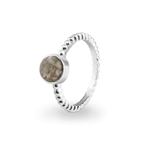 EverWith Ladies Round Bubble Band Memorial Ashes Ring