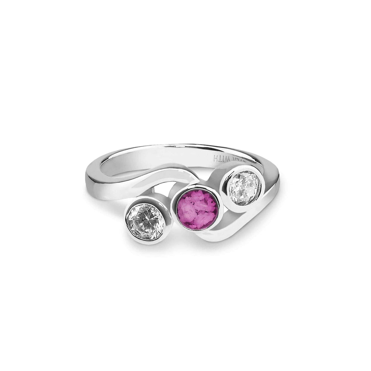 Load image into Gallery viewer, EverWith™ Ladies Three Of Us Memorial Ashes Ring with Swarovski Crystals