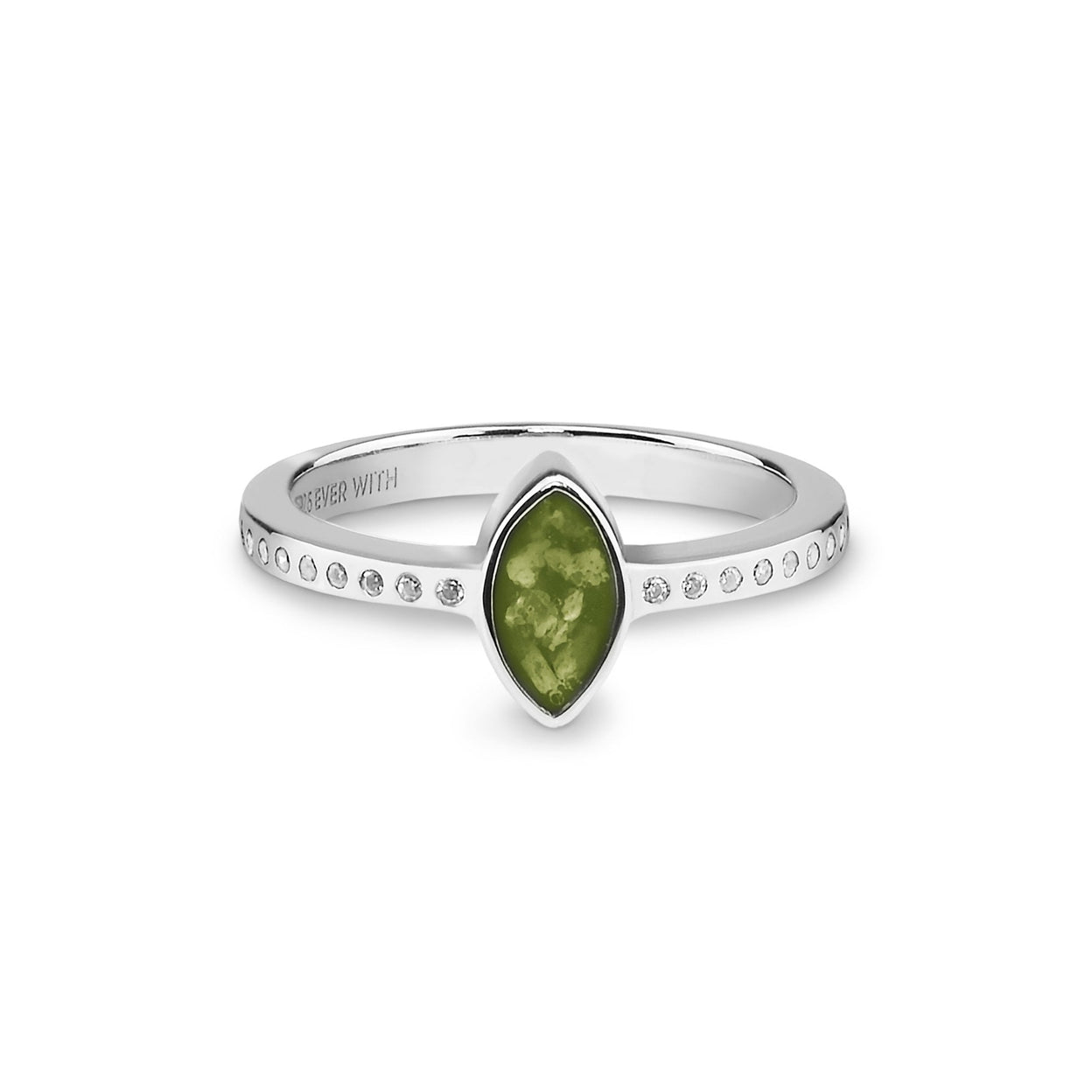 Load image into Gallery viewer, EverWith™ Ladies Deco Memorial Ashes Ring with Swarovski Crystals