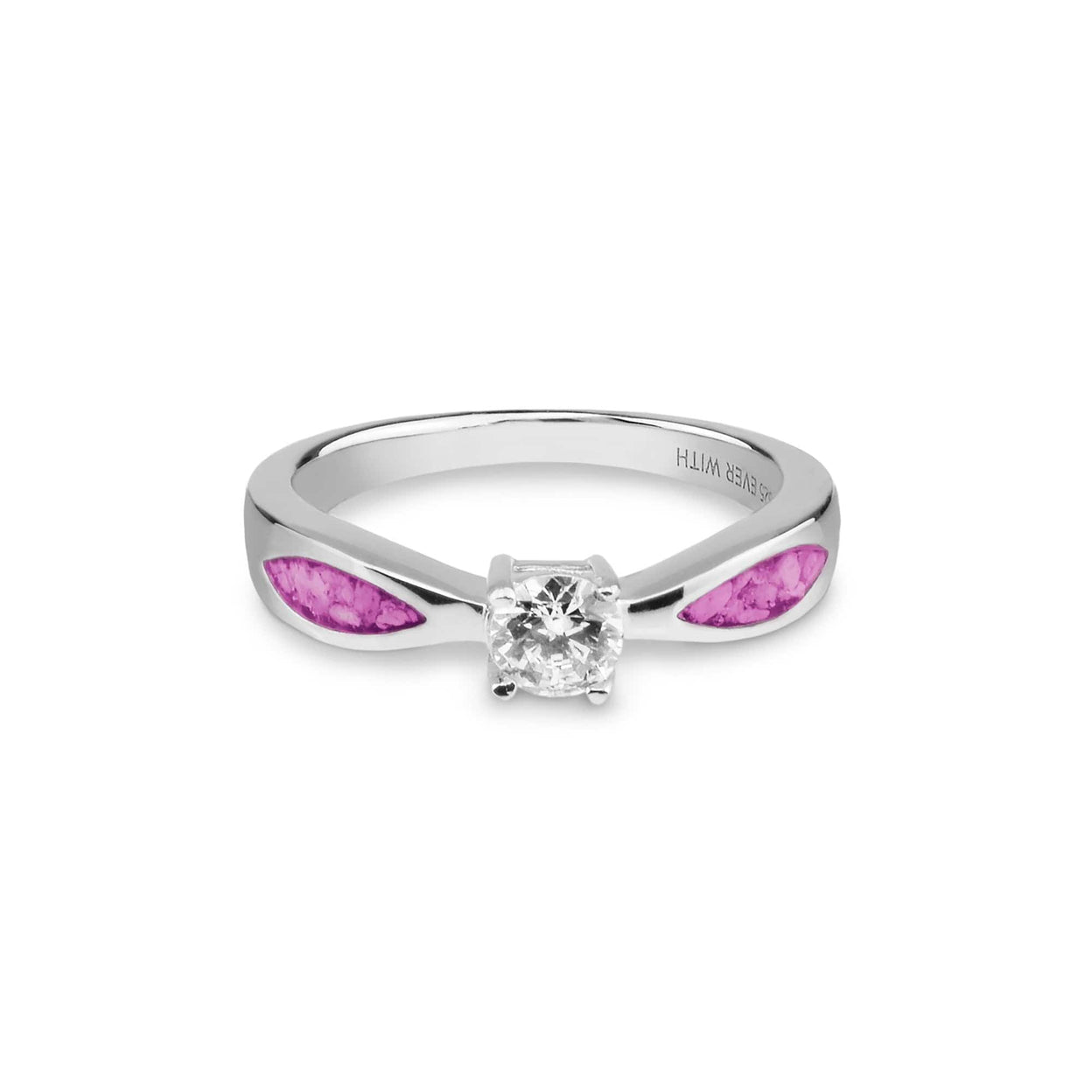 Load image into Gallery viewer, EverWith™ Ladies Solitaire Memorial Ashes Ring with Swarovski Crystals