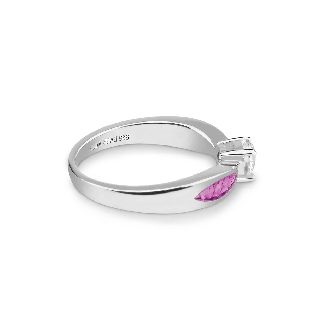 Load image into Gallery viewer, EverWith Ladies Solitaire Memorial Ashes Ring with Fine Crystals