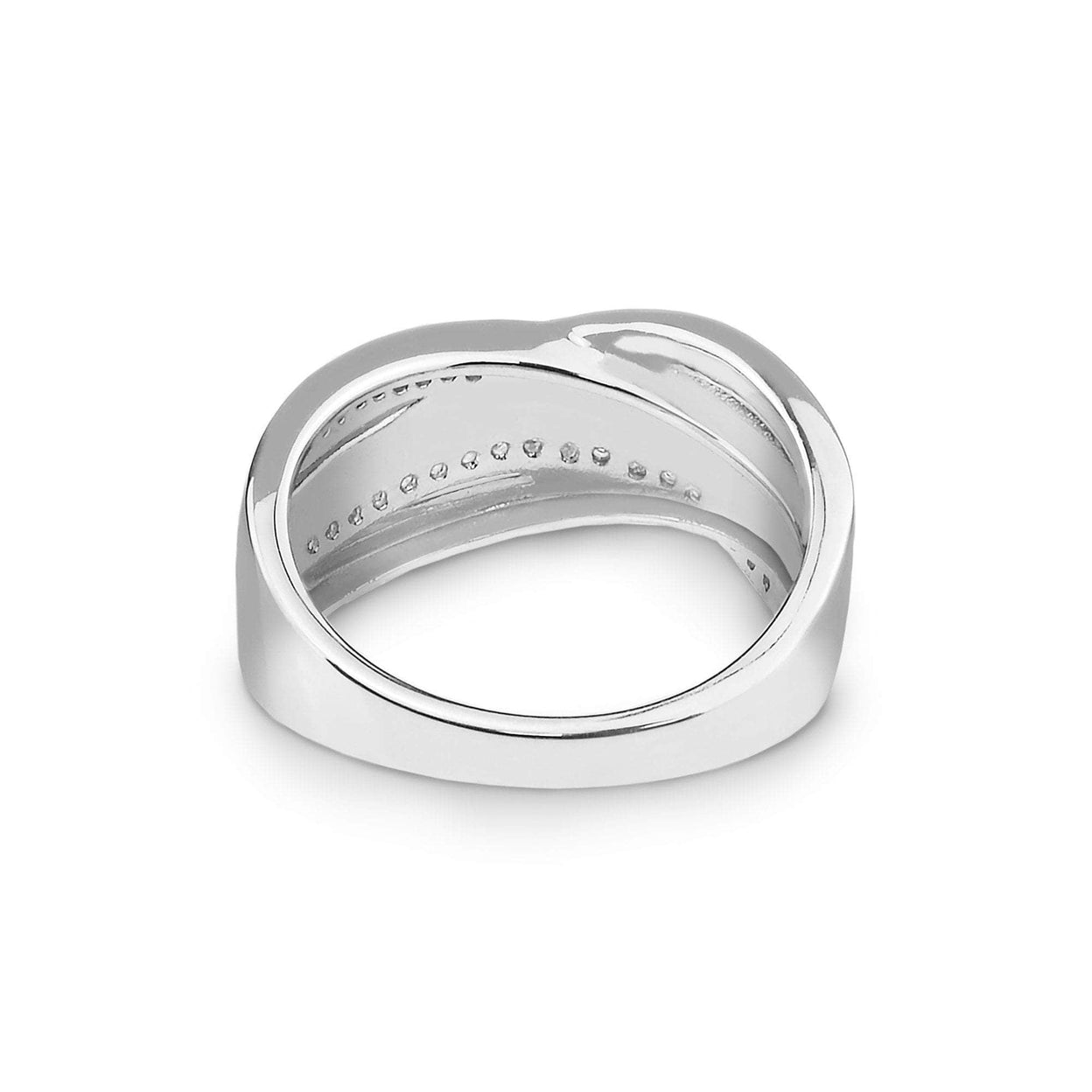 Load image into Gallery viewer, EverWith™ Ladies Waves Memorial Ashes Ring with Swarovski Crystals
