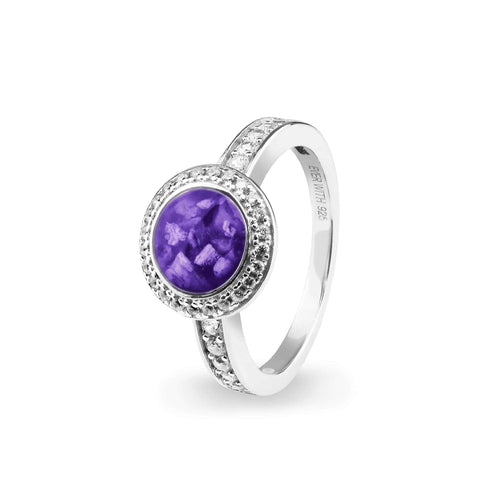 EverWith™ Ladies Radiance Memorial Ashes Ring with Swarovski Crystals