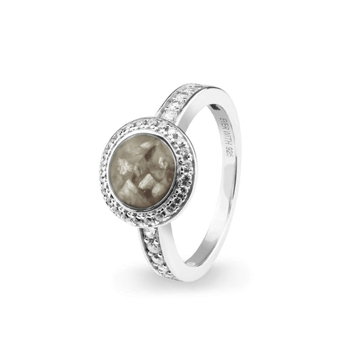 EverWith Ladies Radiance Memorial Ashes Ring with Fine Crystals