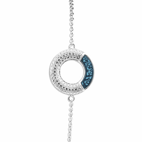 EverWith™ Ladies Eternal Memorial Ashes Bracelet with Swarovski Crystals