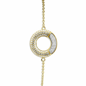 EverWith Ladies Eternal Memorial Ashes Bracelet with Fine Crystals