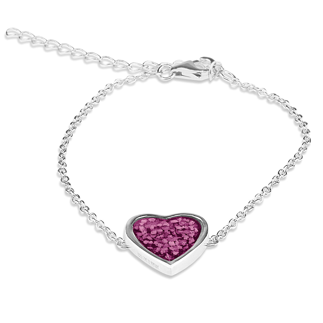 Load image into Gallery viewer, EverWith™ Ladies Heart Memorial Ashes Bracelet