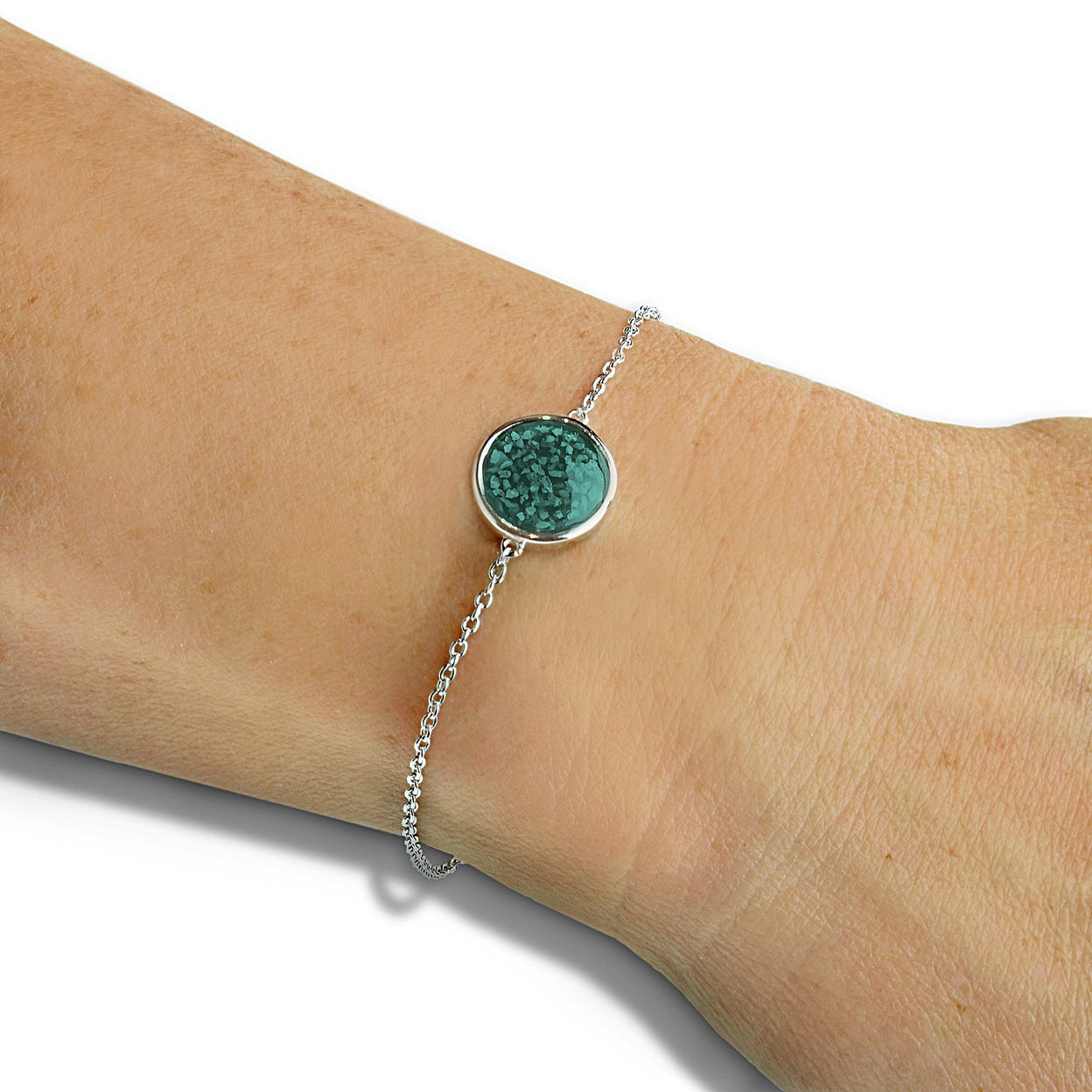 Load image into Gallery viewer, EverWith™ Ladies Classic Round Memorial Ashes Bracelet