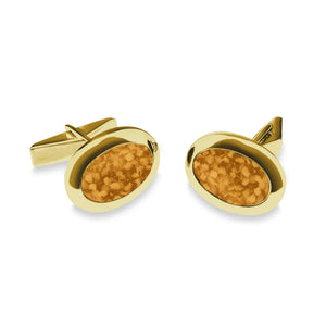 EverWith™ Gents Oval Memorial Ashes Cufflinks