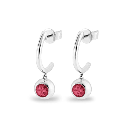 EverWith Ladies Rondure Crescent Memorial Ashes Earrings