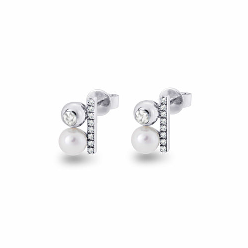 EverWith Ladies Rondure Opulence Memorial Ashes Earrings