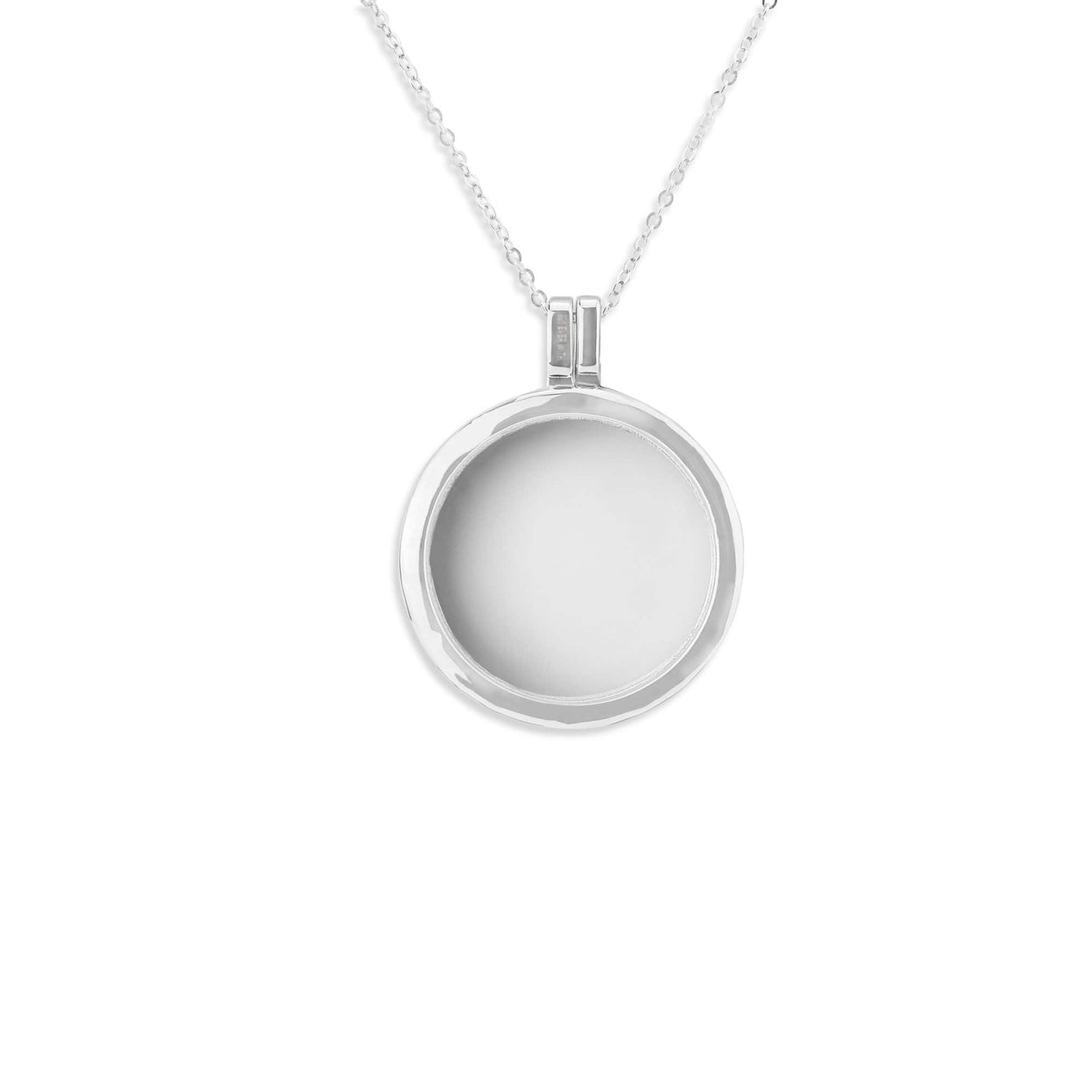 Load image into Gallery viewer, EverWith™ Small Round Glass Locket Sterling Silver Cremation Ashes Locket