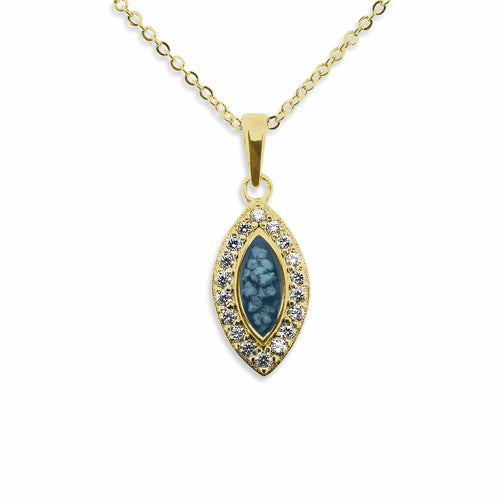 EverWith Ladies Marquise Memorial Ashes Pendant with Fine Crystals