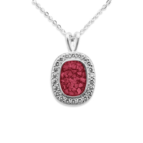 EverWith™ Ladies Treasure Memorial Ashes Pendant with Swarovski Crystals