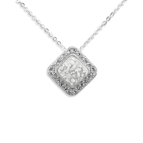 EverWith™ Ladies Bless Memorial Ashes Pendant with Swarovski Crystals