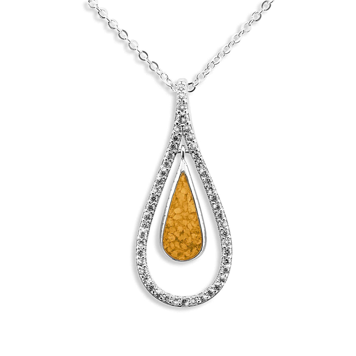 Load image into Gallery viewer, EverWith Ladies Teardrop Memorial Ashes Pendant
