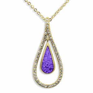 EverWith Ladies Teardrop Memorial Ashes Pendant