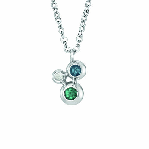 EverWith Ladies Rondure Triple Array Memorial Ashes Pendant
